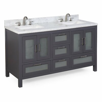 Manhattan 60 Double Sink Bathroom Vanity Set