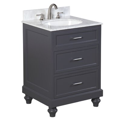 Amelia 24 Single Bathroom Vanity Set Base Finish: Charcoal Gray