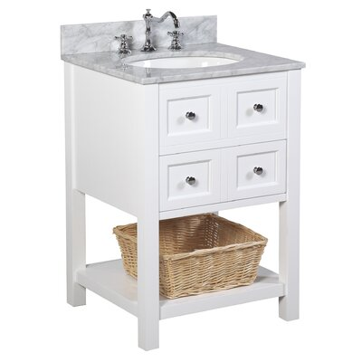 New Yorker 24 Single Bathroom Vanity Set Base Finish: White