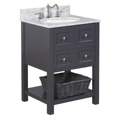 New Yorker 24 Single Bathroom Vanity Set Base Finish: Charcoal Gray