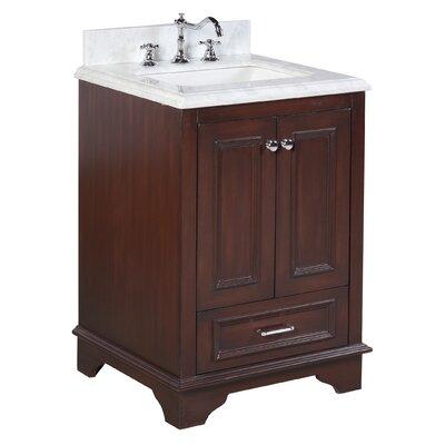 Nantucket 25 Single Bathroom Vanity Set Base Finish: Chocolate
