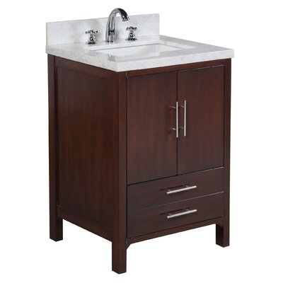 California 24 Single Bathroom Vanity Set Base Finish: Chocolate