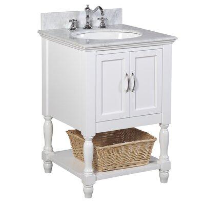 Beverly 24 Single Bathroom Vanity Set Base Finish: White