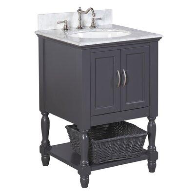Beverly 24 Single Bathroom Vanity Set Base Finish: Charcoal Gray