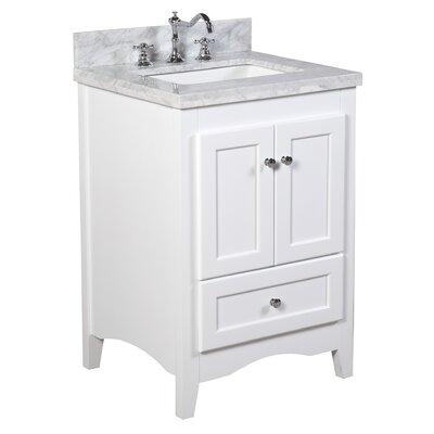 Abbey 24 Single Bathroom Vanity Set Base Finish: White