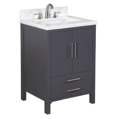 California 24 Single Bathroom Vanity Set Base Finish: Charcoal Gray