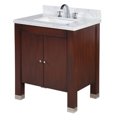 Riley 30 Single Bathroom Vanity Set Base Finish: Chocolate
