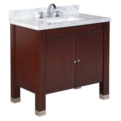 Riley 36 Single Bathroom Vanity Set Base Finish: Chocolate