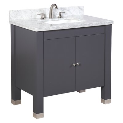 Riley 36 Single Bathroom Vanity Set Base Finish: Charcoal Gray