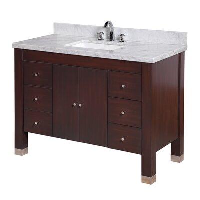 Riley 48 Single Bathroom Vanity Set Base Finish: Chocolate