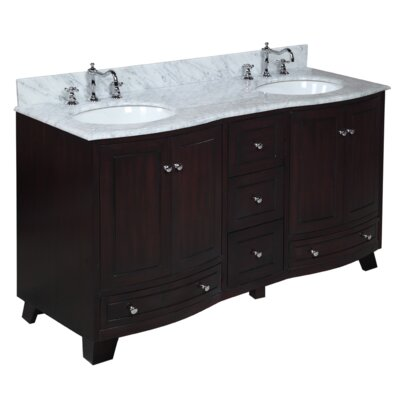 Palazzo 60 Double Bathroom Vanity Set Base Finish: Espresso