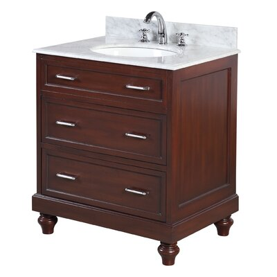 Amelia 30 Single Bathroom Vanity Set Base Finish: Chocolate