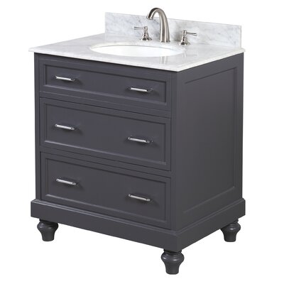 Amelia 30 Single Bathroom Vanity Set Base Finish: Charcoal Gray