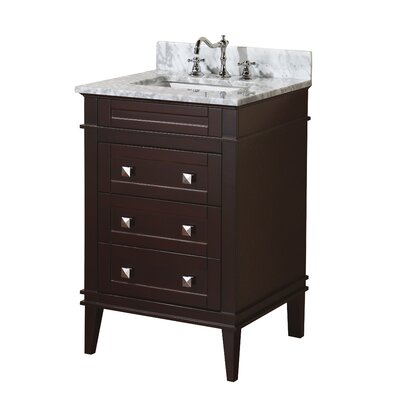 Eleanor 24 Single Bathroom Vanity Set Base Finish: Chocolate