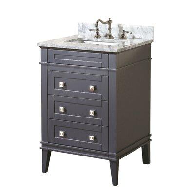 Eleanor 24 Single Bathroom Vanity Set Base Finish: Charcoal Gray