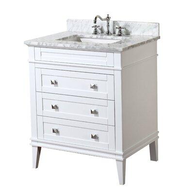 Eleanor 30 Single Bathroom Vanity Set Base Finish: White