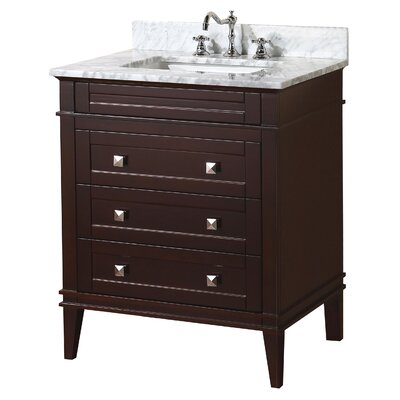 Eleanor 30 Single Bathroom Vanity Set Base Finish: Chocolate