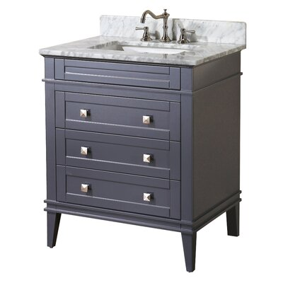 Eleanor 30 Single Bathroom Vanity Set Base Finish: Charcoal Gray