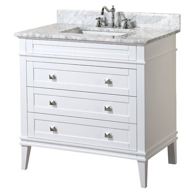 Eleanor 36 Single Bathroom Vanity Set Base Finish: White