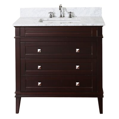 Eleanor 36 Single Bathroom Vanity Set Base Finish: Chocolate
