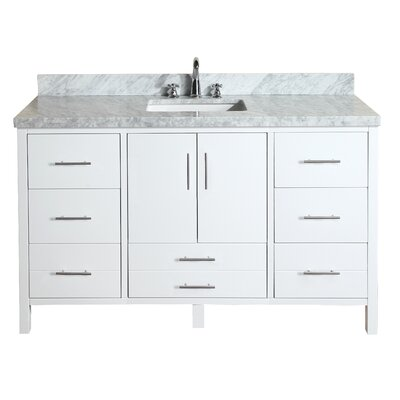 California 60 Single Bathroom Vanity Set Base Finish: White