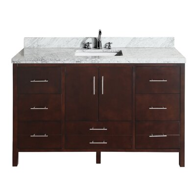 California 60 Single Bathroom Vanity Set Base Finish: Chocolate