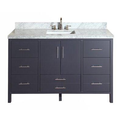 California 60 Single Bathroom Vanity Set Base Finish: Charcoal Gray