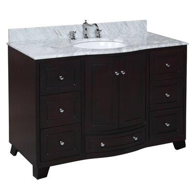 Palazzo 48 Single Bathroom Vanity Set Size: 48, Base Finish: Espresso