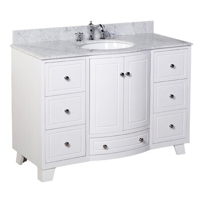Palazzo 48 Single Bathroom Vanity Set Base Finish: White