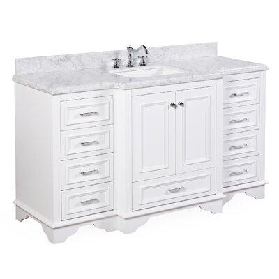 Nantucket 60 Single Bathroom Vanity Set Base Finish: White