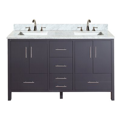 California 60 Double Bathroom Vanity Set