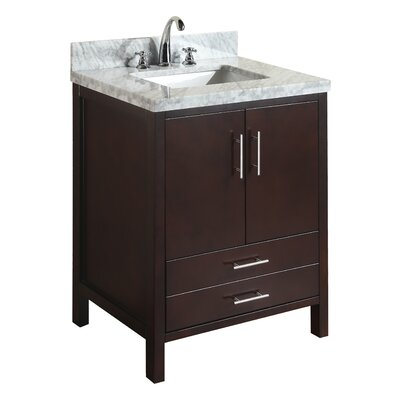 California 30 Single Bathroom Vanity Set Base Finish: Chocolate