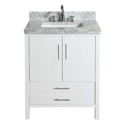 California 30 Single Bathroom Vanity Set Base Finish: White