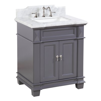 Elizabeth 30 Single Bathroom Vanity Set Base Finish: Charcoal Gray