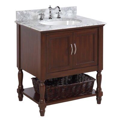 Beverly 30 Single Bathroom Vanity Set Base Finish: Chocolate