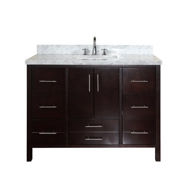 California 48 Single Bathroom Vanity Set Base Finish: Chocolate