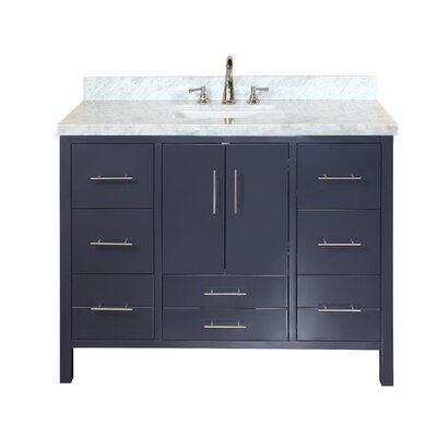 California 48 Single Bathroom Vanity Set Base Finish: Charcoal Gray