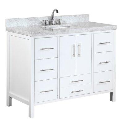 California 48 Single Bathroom Vanity Set Base Finish: White
