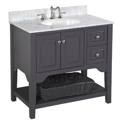 Washington 36 Single Bathroom Vanity Set Base Finish: Charcoal Gray