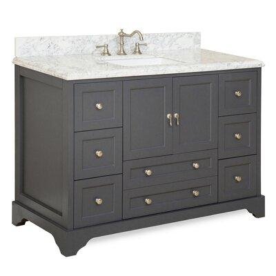 Madison 48 Single Bathroom Vanity Set Base Finish: Charcoal Gray