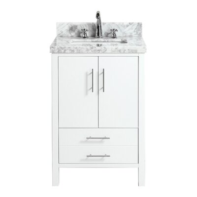 California 24 Single Bathroom Vanity Set Base Finish: White