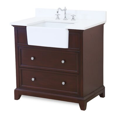 Sophie 36 Single Bathroom Vanity Set Base Finish: Chocolate, Top Finish: Quartz