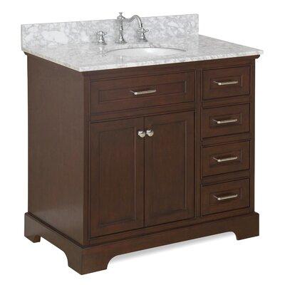 Aria 36 Single Bathroom Vanity Set Base Finish: Charcoal Gray, Top Finish: Quartz