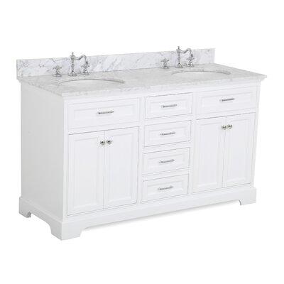 Aria 60 Double Bathroom Vanity Set Base Finish: White