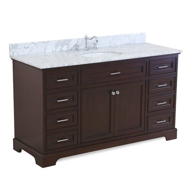 Aria 60 Single Bathroom Vanity Set Base Finish: Chocolate