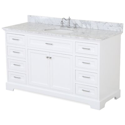 Aria 60 Single Bathroom Vanity Set Base Finish: White