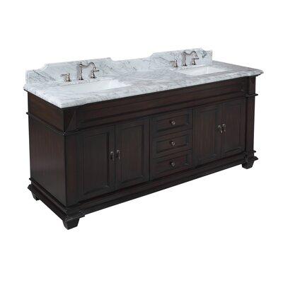 Elizabeth 72 Double Bathroom Vanity Set