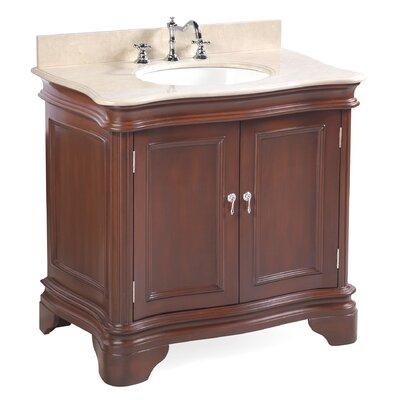 Katherine 36 Single Bathroom Vanity Set Base Finish: Chocolate