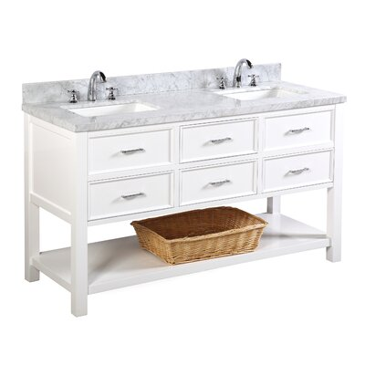 New Hampshire 60 Double Bathroom Vanity Set Base Finish: White