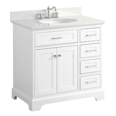 Aria 36 Single Bathroom Vanity Set Base Finish: White